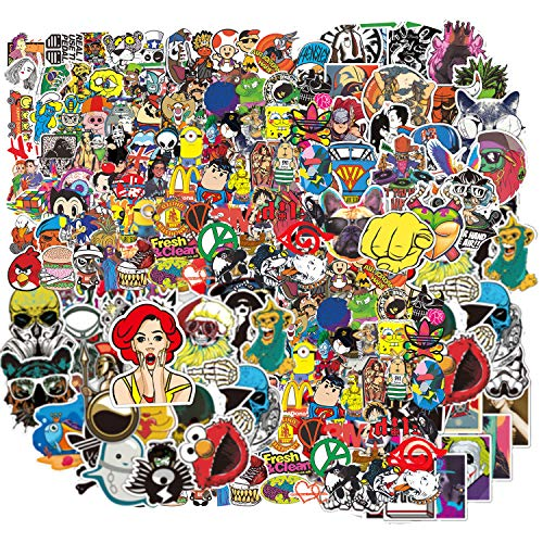 Waterproof Stickers Pack(400 Pcs) for Laptop, Luggage, Car, Motorcycle, Bicycle, No-Duplicate, Random ()