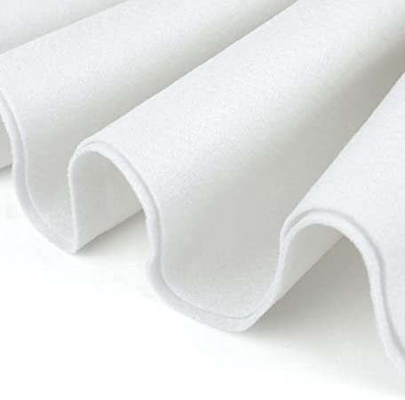 Acrylic Felt by the Yard with Adhesive 36 Wide X 2 YD Long Light Gray