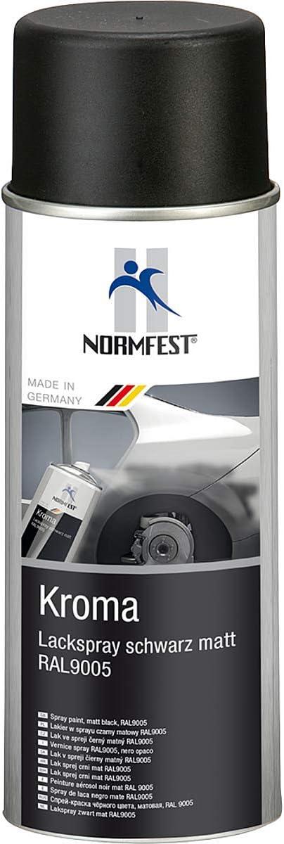 Kroma Fwcolours Normfest Lackspray Autolack Schwarz Matt Benzinfest Sprühlack Farbspray1x 400ml Auto