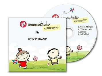 Namenslieder Cd Personalisierte Kinderlieder 8 Kinderlieder Gesungen Mit Deinem Namen Zur Taufe Geburtstagsgeschenk Taufgeschenk Cd