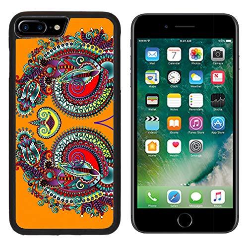 Luxlady Apple iPhone 8 Plus Case Aluminum Backplate Bumper Snap iphone8 Plus Cases Image ID: 32366927 Neckline Ornate Floral Paisley Embroidery Fashion Design Ukrainian ethni