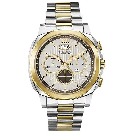 Bulova Classic Dress 98B232 orologio al quarzo da uomo, con quadrante  argentato, display analogico e cinturino placcato in oro/argento  Amazon.it Orologi
