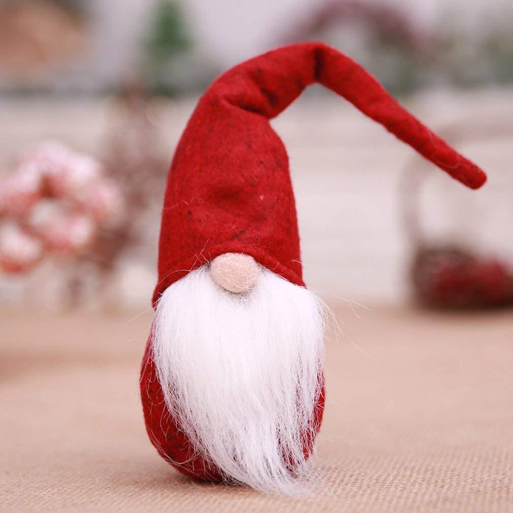 Hemore Faceless Babbo Natale Nano Bambola Giocattolo Morbido Peluche casa Regalo di Natale Decor Molto Pratico di Feste e Compleanni Centritavola Soprammobili Natalizi