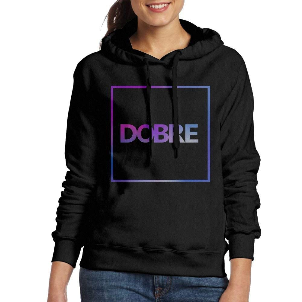 bikini bags Lucas Dobre Logo B Women's Sweatshirt Pocket Hoodie Black