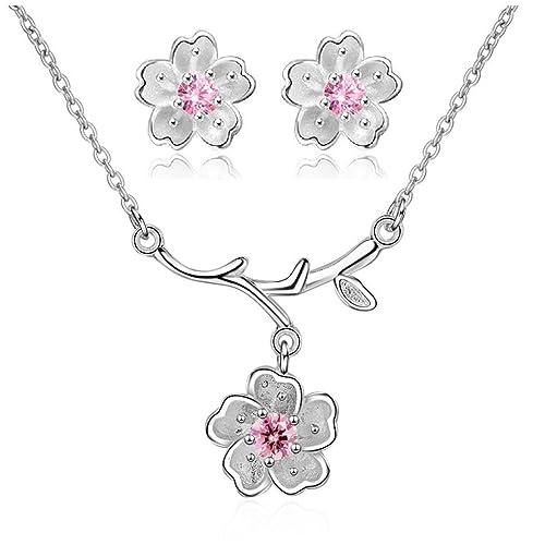 lucentezza adorabile seleziona per il più recente seleziona per il più recente Uloveido - Completo collana e orecchini a forma di fiori di ...