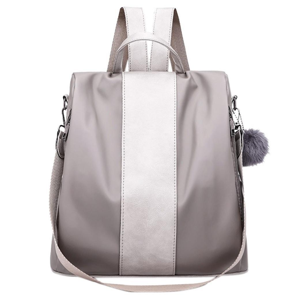 Aobiny Backpack Oxford Cloth College Wind Women's Backpack Shoulder Bag (Gray)