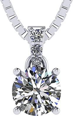 925 Sterling Silver Initial N Round Cut Prong Set 0.04 dwt Diamond Necklace
