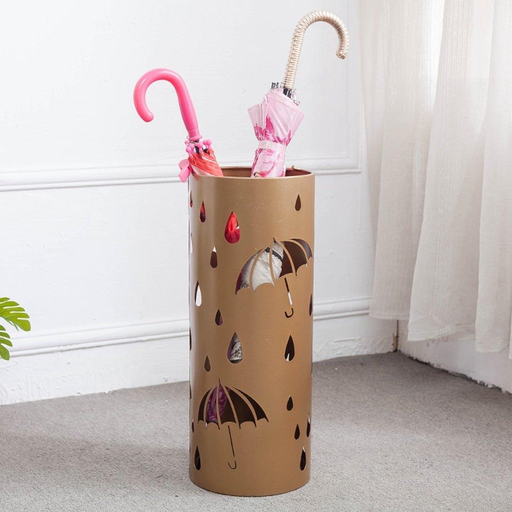 アイアンアートの傘スタンド家庭用コンビニ小物ファッション北ヨーロッパの傘収納棚 (色 : ゴールド) B07CSLZ53T ゴールド ゴールド