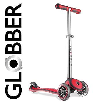 Globber My Free 2C - Patinete, con 3 ruedas, color rojo y ...