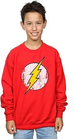 DC Comics niños Flash Distressed Logo Camisa De Entrenamiento