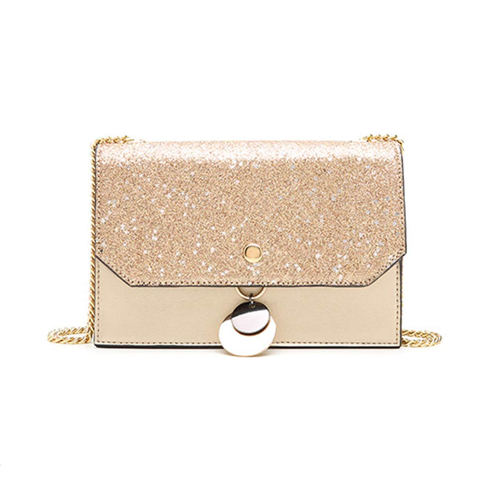 FFQNG damen es Sequin Shoulder Bag, damen ' s Messenger Bag Metal Chain Personality Small Square Package B07NYYN16J Schultertaschen Modern