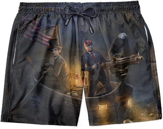 Trump Pantalones Cortos Trump 2020 Patriótico Swim Short para Hombres Bandera Americana Pantalones Cortos S-3X - Azul - 5X-Large: Amazon.es: Ropa y accesorios