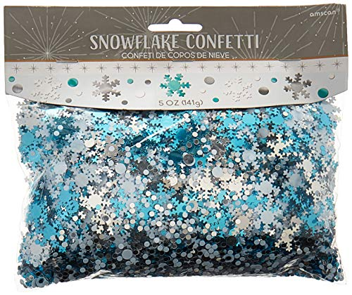 (White Snowflake Metallic Foil Confetti Value Pack | Christmas Decoration)