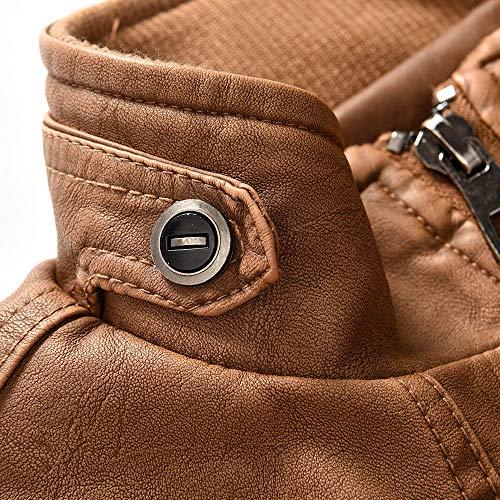 Amazon.com: Dacawin Men Winter Plus Velvet Thickening Vintage Leather Jacket Zipper Coat Plus Size: Office Products