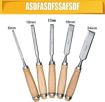 Cinceles de tallado a mano SENRISE juego de herramientas de madera para tallar madera cincel de acero de alta velocidad y casquillos de lat/ón