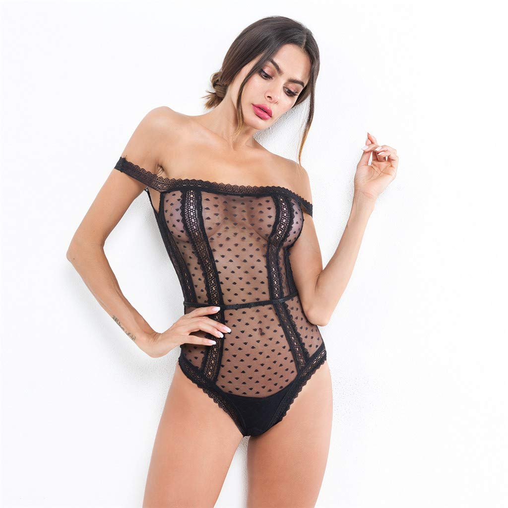 2f96dd340cf Women Sexy Lingerie Sleepwear Lace Dress Underwear Perspective Backless  Lingerie Sleepwear Pajamas at Amazon Women s Clothing store