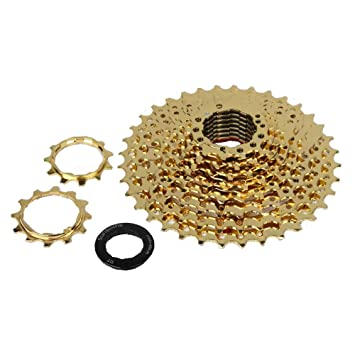 Premium 10speed 11-36t Mtb Gold Freewheel Mountain Road Bike Casette Flywheel Cycling