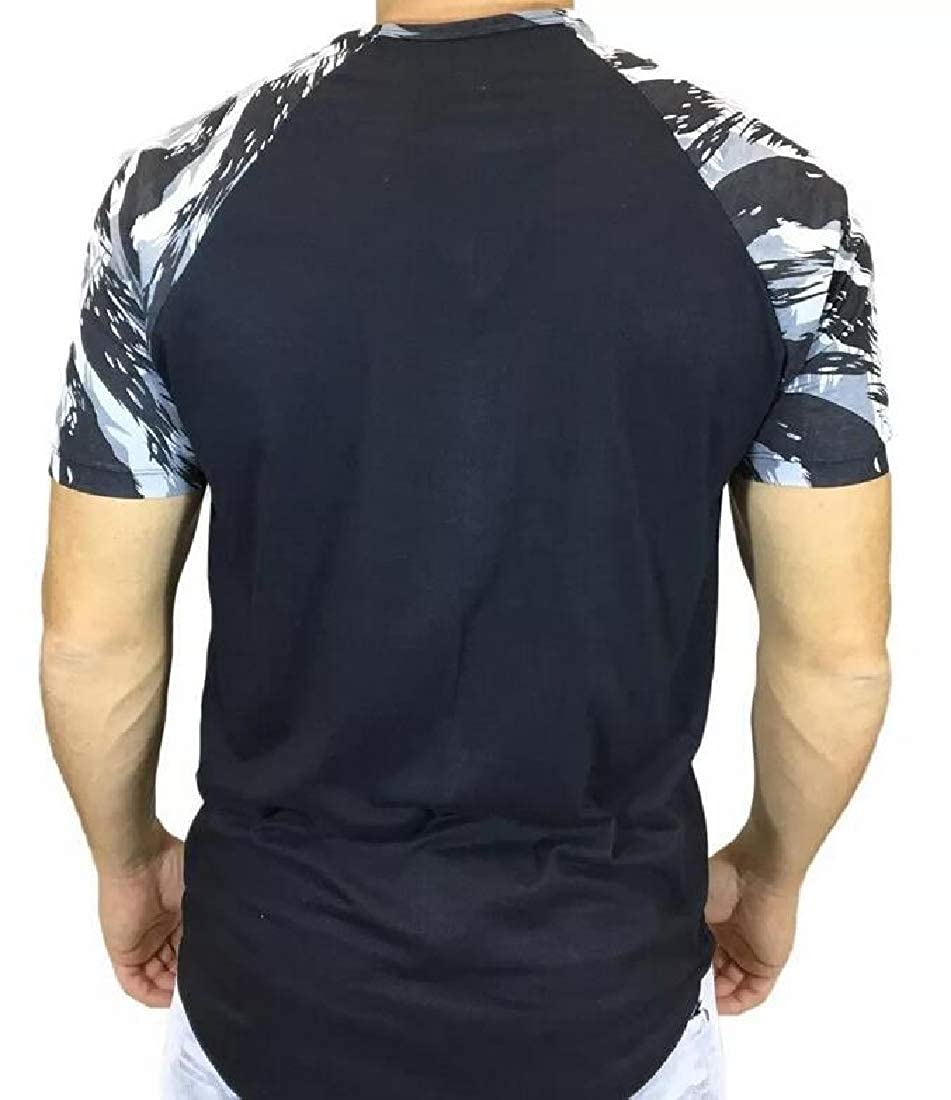 HANA+DORA Mens Super Longline Curved Hem Short Sleeved Crew Neck Relaxed Fit T-Shirt