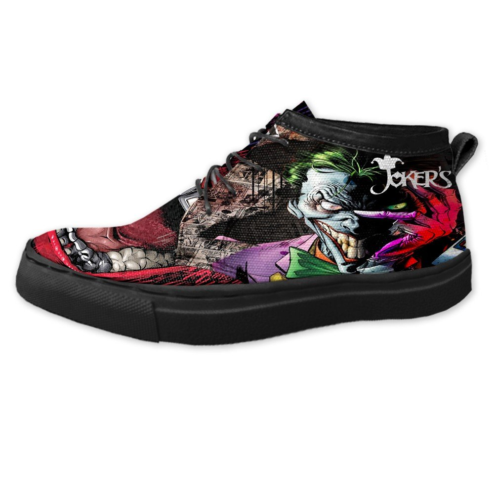 Amazon.com : Joker Custom Canvas Sneaker Fullprint ...