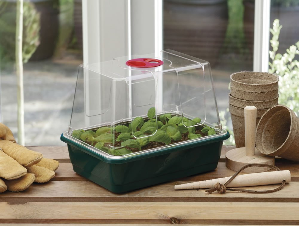 Garland GAL20SM Half-Size High-Dome Propagator - Green