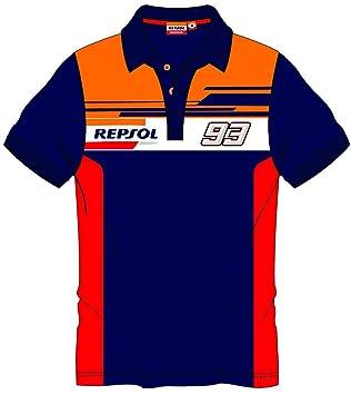 HONDA Repsol Marc Marquez 93 Moto GP Panel Azul Polo Shirt Oficial ...
