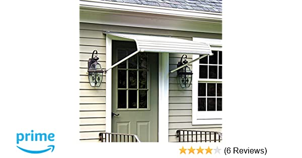 Amazon Com Nuimage Awnings  Aluminum Door Canopy With Support Arms White Home Improvement