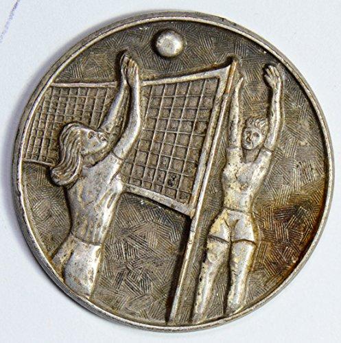 Vintage Token Coin - IE U0072 US Medal vintage volleyball token high relief, handmade silver DE PO-01