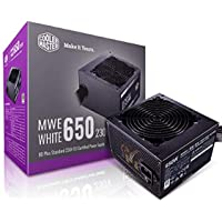 Cooler Master MWE 80Plus White 650W 230V 80Plus Single +12V Rail Silent Mode DC-to-DC Power Supply - Black - MPE-6501…