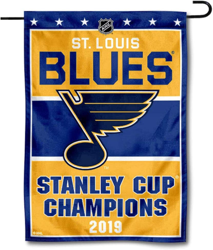 WinCraft St. Louis Blues 2019 Stanley Cup Champions Double Sided Garden Flag