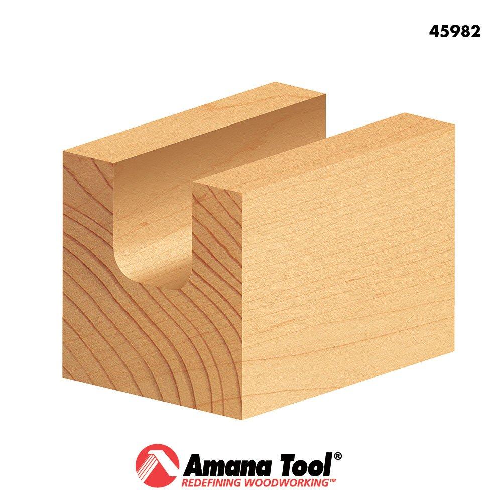 45982 Carbide Tipped Bowl /& Tray 1//4 Radius x 3//4 Dia x 5//8 x 1//4 Shank Amana Tool