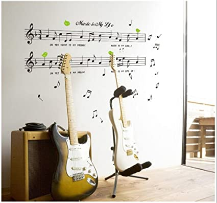 Amazon.com: DOPIN Music Sticker Music Decal Music Note Wall Stickers ...