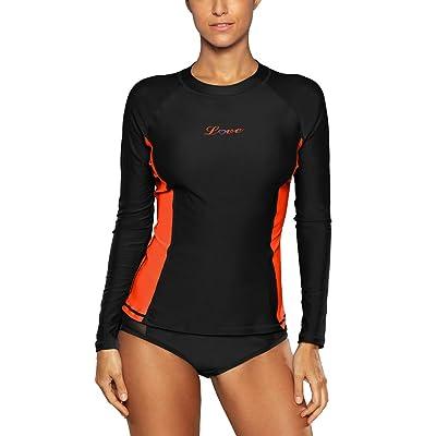 a1f81a954c04d5 ALove Women s Long Sleeve Rash Guard UPF 50+ Swim Shirt UV Athletic Tops