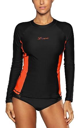 ALove Long Sleeve Rash Guard Top Women UV Shirt Athletic Top for Women  Black Small c6691dcb2