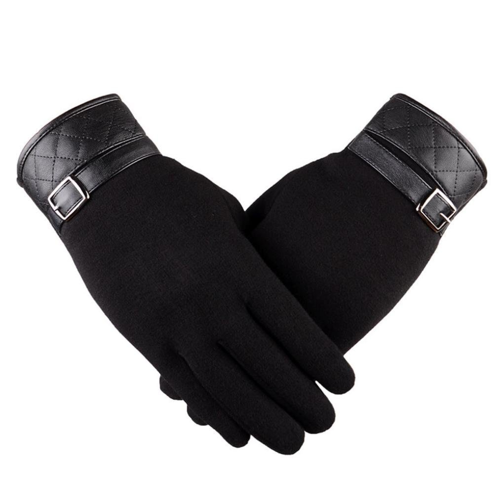 Start Men Winter Warm Glove Liners Motorcycle Ski Outdoor Snowboard Gloves (Black)