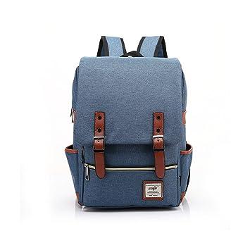 upsun (wenjie) Vintage Chic lienzo portátil Escuela Mochila de viaje trabajo de la mochila azul talla única: Amazon.es: Electrónica
