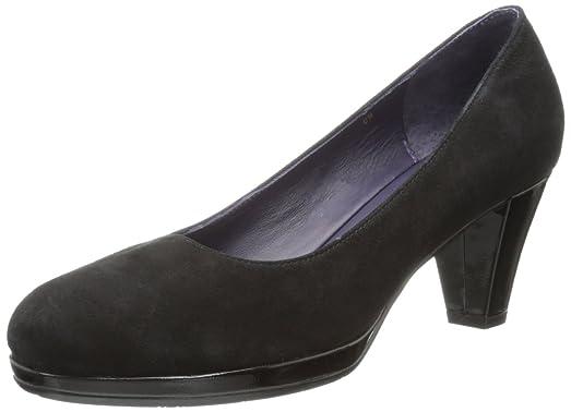 Womens Shoes Vaneli Laurice Black Suede/Black Patent