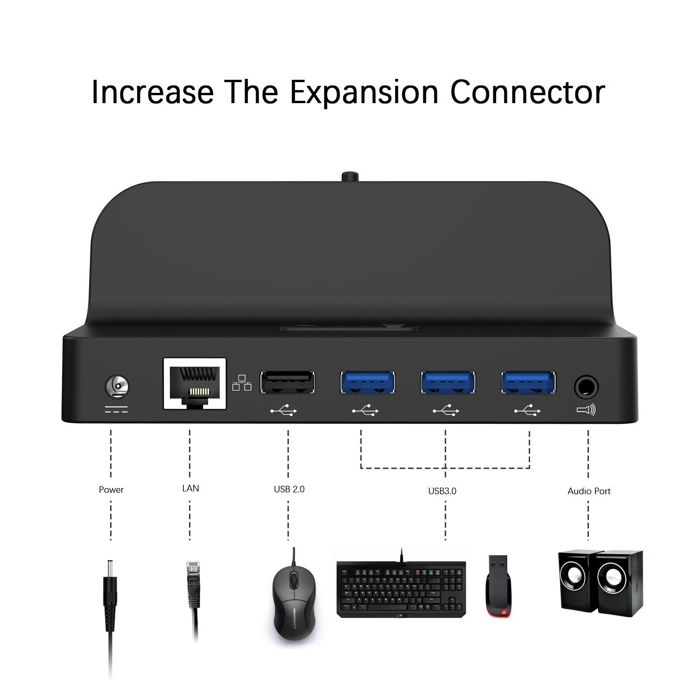 Amazon com: GOOQ Microsoft Surface Dock, Laptop Docking Station