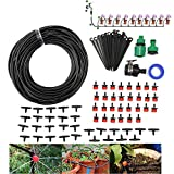 Lysport 93 in 1 DIY Micro Irrigation Drip System-Tubing Watering Drip Kit, Irrigation Spray for Patio Garden Flower Plants (82ft Pipe) Review