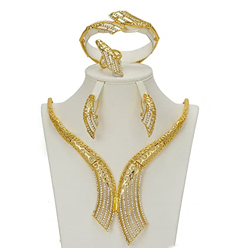 db6661f1db6 Image Unavailable. Image not available for. Color  JISON Fashion Wedding  Jewelry Sets ...