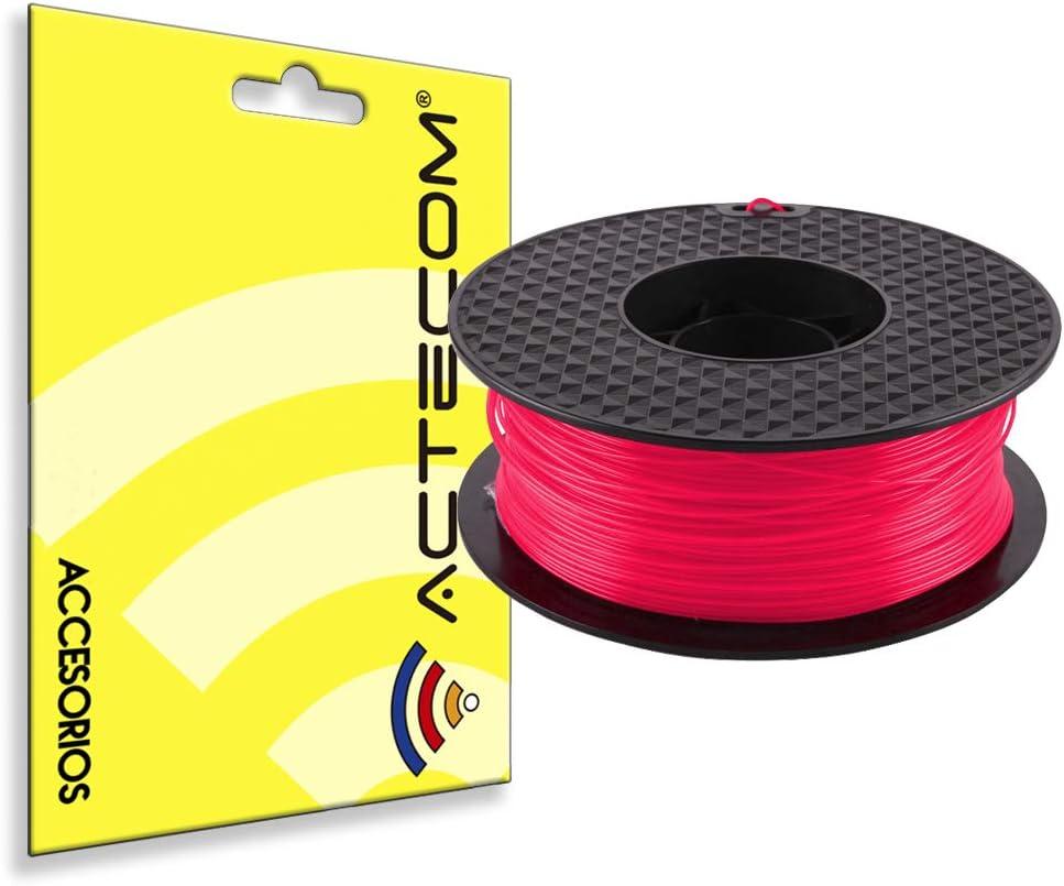 ACTECOM® FILAMENTO PLA Impresora 3D Impresion Bobina 1,75 1KG Rosa ...