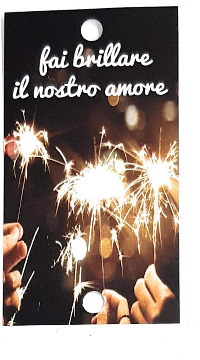 Tarjetas para bengalas, Fait brillare il nostros amore, para tus invitados de boda (texto en italiano): Amazon.es: Hogar