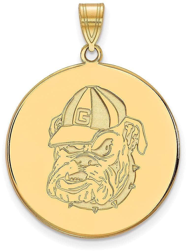 Gold-Plated Sterling Silver University of Georgia X-Large Pendant LogoArt GP080UGA