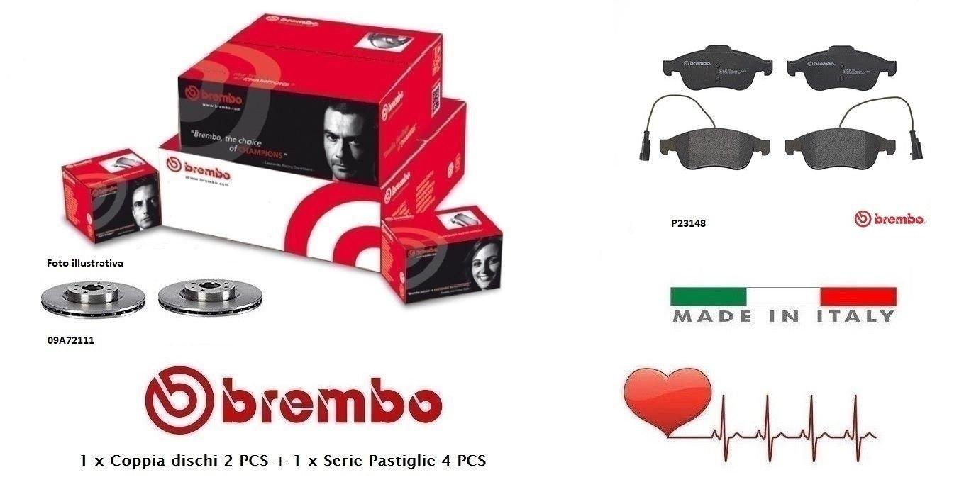 09A72111-P23148 Kit Dischi e Pastiglie Freno Anteriori Brembo