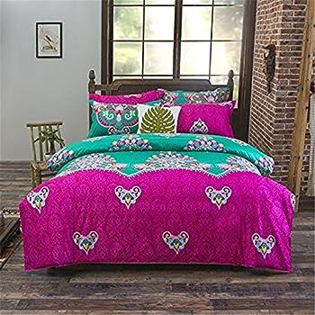 Amazon Com Auvoau Boho Bedding Set Lightweight Polyester