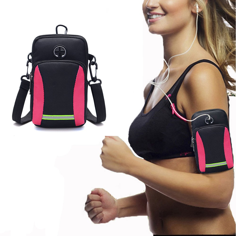 Outdoor Rose Workout Cell Phone Armband for iPhone X 8 7 6 6S Plus Galaxy S9 Plus S9 S8 Note 8 S7 Edge S6 Universal Sweatproof Running Arm Bag Gym Fit Running Gym HUIPEN Sports Armband