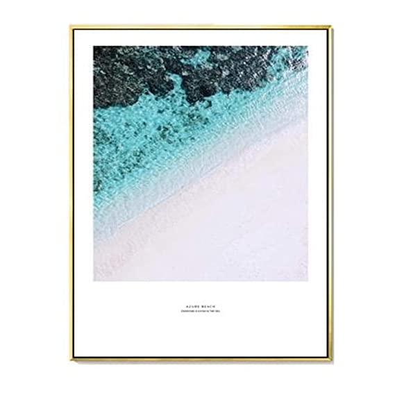 Amazon.com: Jewh (1 Piece Blue Ocean Snow Mountain Canvas Painting Seascape Wall Art Posters and Prints - Nordic Decoration Wall Pictures for Living Room ...