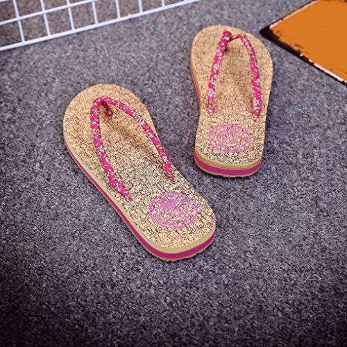 Transer® Damen Flach Zehentrenner (Die wirklichen Schuhe ist ruhig klein!) Pink