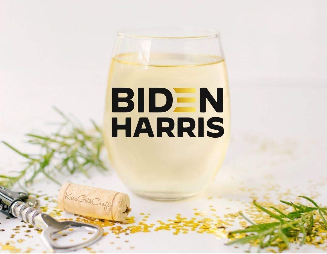 Biden Harris Premium 21oz Stemless Wine Glass