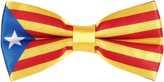 Pajarita Bandera Catalana - Bandera Cataluña La Senyera: Amazon.es ...