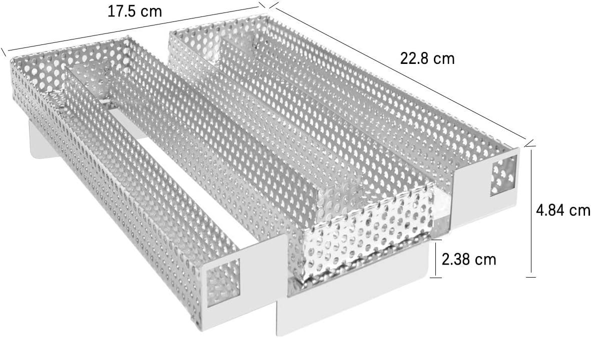Onlyfire FPA-5122 Generador de Humo frío de Acero Inoxidable - Parrilla para Barbacoa o Accesorio para Ahumador para Ahumado de Carne de Salmón, hasta 20 h.: Amazon.es: Jardín